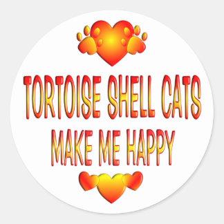 Tortoise Shell Cat Classic Round Sticker