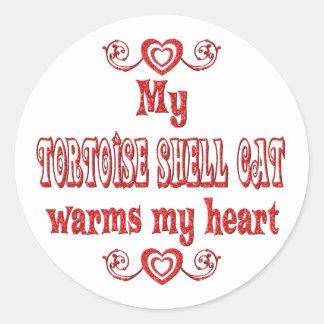 Tortoise Shell Cats Warm My Heart Classic Round Sticker