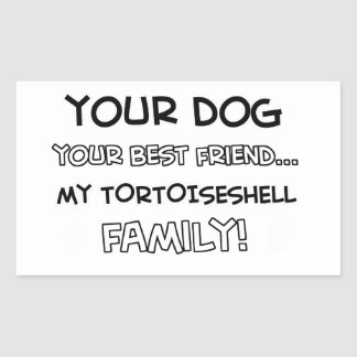 Tortoise shell is family designs rectangular sticker