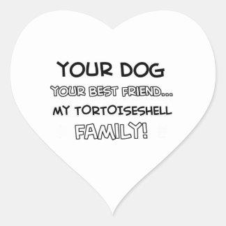 Tortoise shell is family designs heart sticker