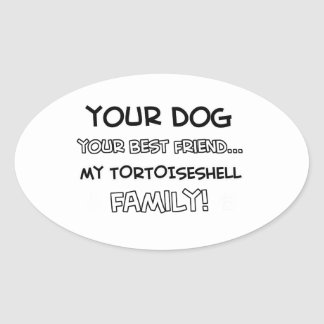 Tortoise shell is family designs oval sticker
