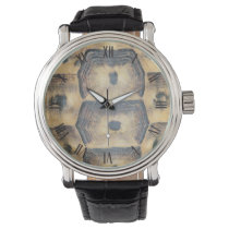 Tortoise Shell Pattern Wristwatch