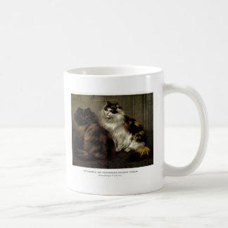 Tortoise Shell Persian Cat and Black Persian Art Coffee Mug