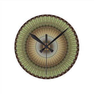 Tortoise Shell Round Clock