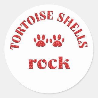 Tortoise Shells Rock Classic Round Sticker