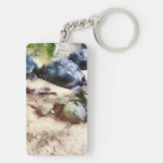 tortoise snoozing keychain