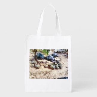 Tortoise snoozing reusable grocery bag