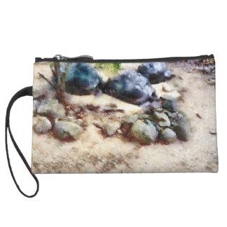 Tortoise snoozing wristlet wallet