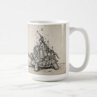 Tortoise Town abstract animal mug