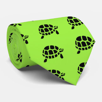 Tortoise Turtle Animal Vintage Wood Engraving Tie