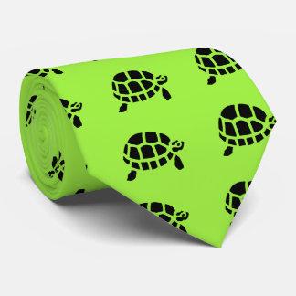 Tortoise Turtle Animal Vintage Wood Engraving Tie