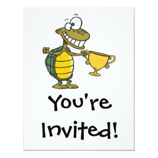 tortoise turtle champ champion 4.25x5.5 paper invitation card