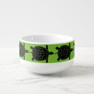 Tortoise Turtle Silhouette Soup Bowl Mug
