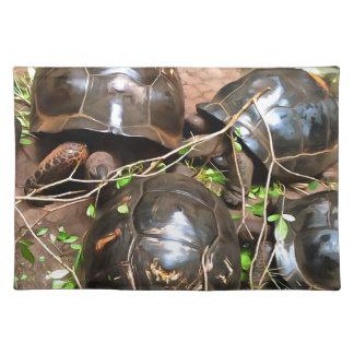 Tortoises at rest cloth placemat