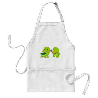 Tortoises in luv adult apron