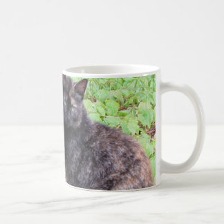 Tortoiseshell Black Cat Garden Classic White Coffee Mug