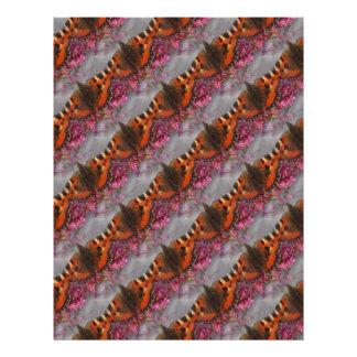 Tortoiseshell Butterfly Pattern Letterhead