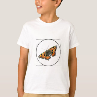 Tortoiseshell Butterfly Watercolor Painting T-Shirt