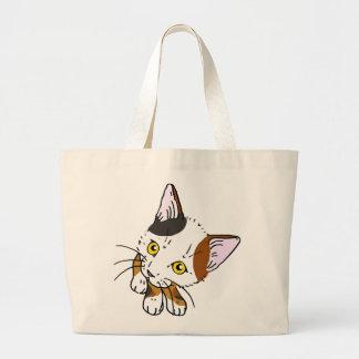 Tortoiseshell cat (三毛猫) jumbo tote bag