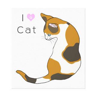 Tortoiseshell cat (三毛猫) canvas print
