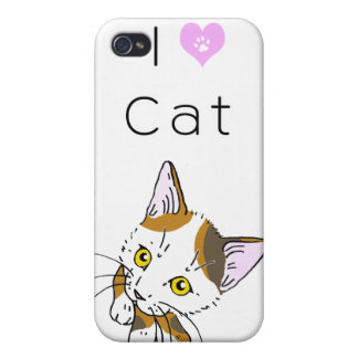 Tortoiseshell cat (三毛猫) iPhone 4 cases