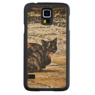 Tortoiseshell Cat Carved Maple Galaxy S5 Case