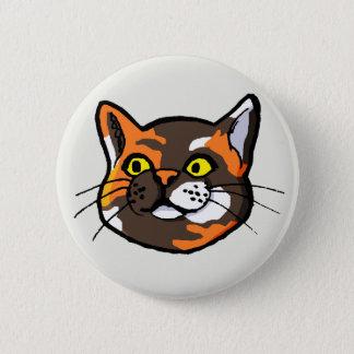 Tortoiseshell Cat Drawing Button Badge