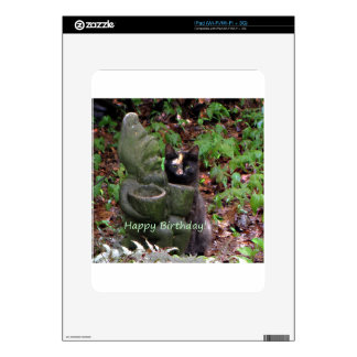 Tortoiseshell Cat HAPPY BIRTHDAY Decals For The iPad