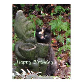 Tortoiseshell Cat HAPPY BIRTHDAY Letterhead