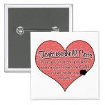 Tortoiseshell Cat Paw Prints Humor 2 Inch Square Button