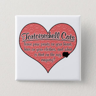 Tortoiseshell Cat Paw Prints Humor Pinback Button