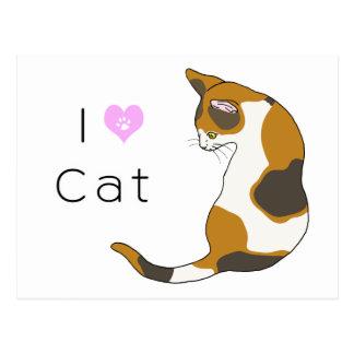 tortoiseshell cat postcard