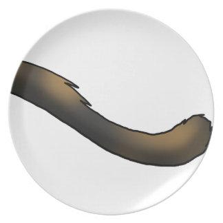 Tortoiseshell Cat Tail Plate