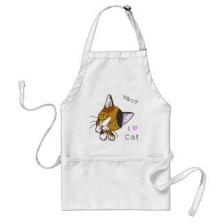Tortoiseshell cat (tortoiseshell cat) adult apron