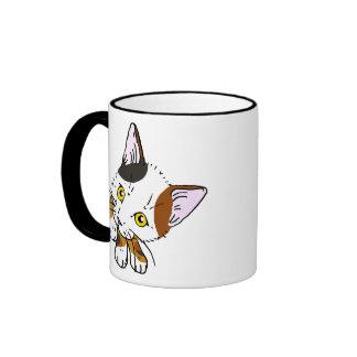 Tortoiseshell cat (tortoiseshell cat) ringer mug