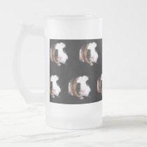 Tortoiseshell Guinea Pig Pattern, Frosted Glass Beer Mug