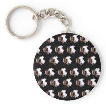 Tortoiseshell Guinea Pig Pattern, Keychain