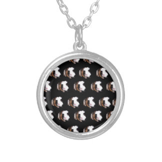Tortoiseshell Guinea Pig Pattern, Silver Plated Necklace