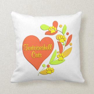 Tortoiseshell Heart Throw Pillow