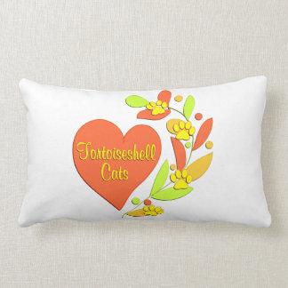 Tortoiseshell Heart Throw Pillows