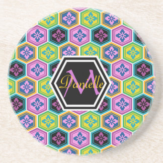 Tortoiseshell Honeycomb Colorful Japanese Kikkou Coaster
