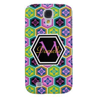 Tortoiseshell Honeycomb Colorful Japanese Kikkou Samsung Galaxy S4 Cover