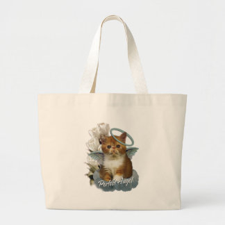 Tortoiseshell Persian Angel Jumbo Tote Bag