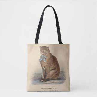 Tortoiseshell  & Russian Blue Cats Tote Bag