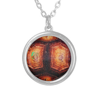 Tortoiseshell Silver Plated Necklace