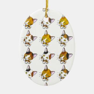 Tortoiseshells , tabby cat_Christmas Tree Ornament