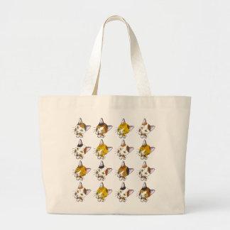 Tortoiseshells , tabby cats (三毛猫) jumbo tote bag