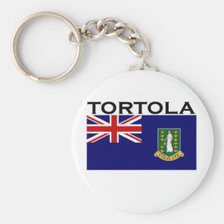 Tortola Basic Round Button Keychain