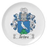 Tortora Family Crest Dinner Plate