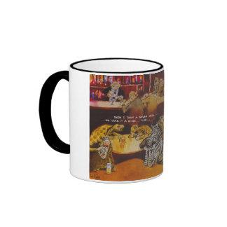 Tortuga aburrida tazas de café